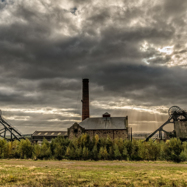 """Stormy Mine"" stock image"