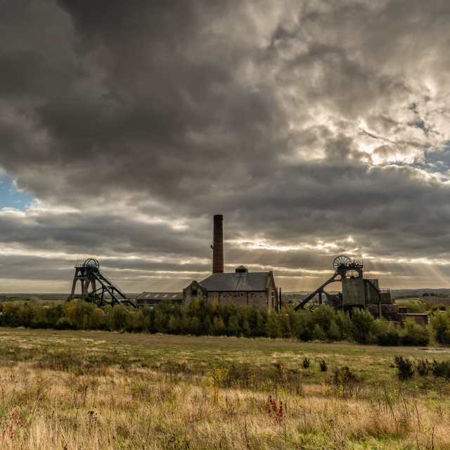 """Storm over Pleasley Pit"" stock image"