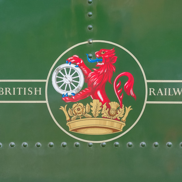 """british railways insignia"" stock image"