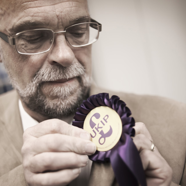 """UKIP Voters"" stock image"