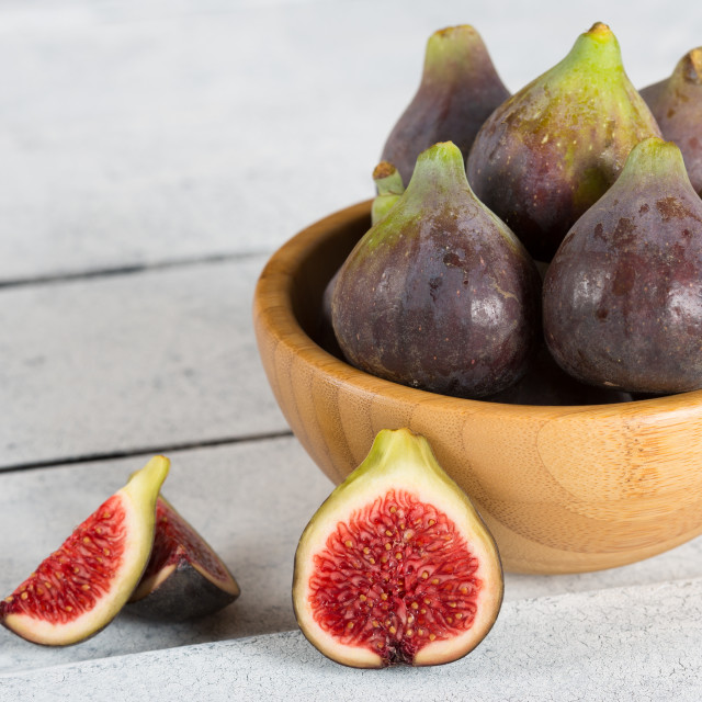 """Ripe figs ready to eat"" stock image"