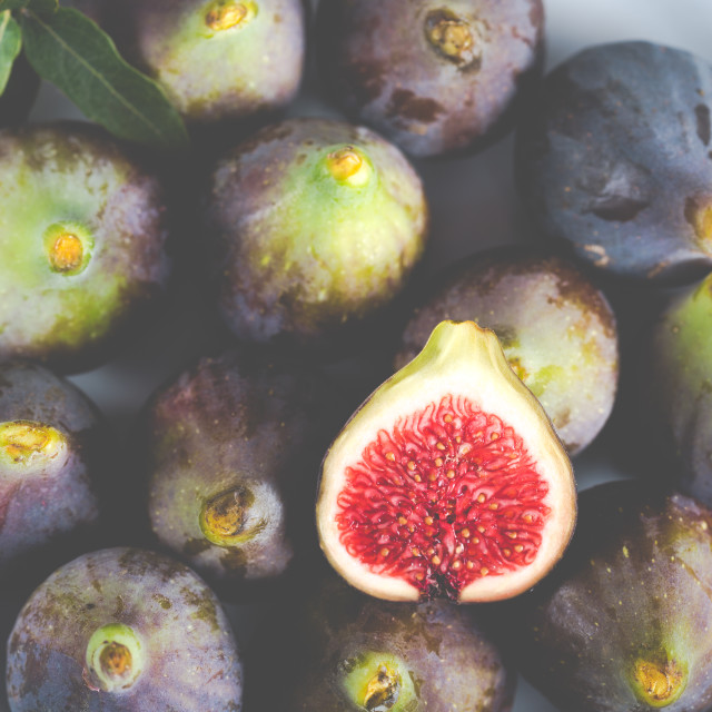 """""""Ripe figs ready to eat"""" stock image"""
