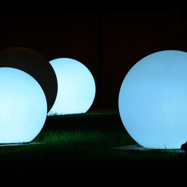 """Glowing balls night light"" stock image"