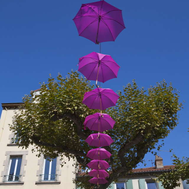 """Pink Umbrellas for Breast Cancer Campaign"" stock image"
