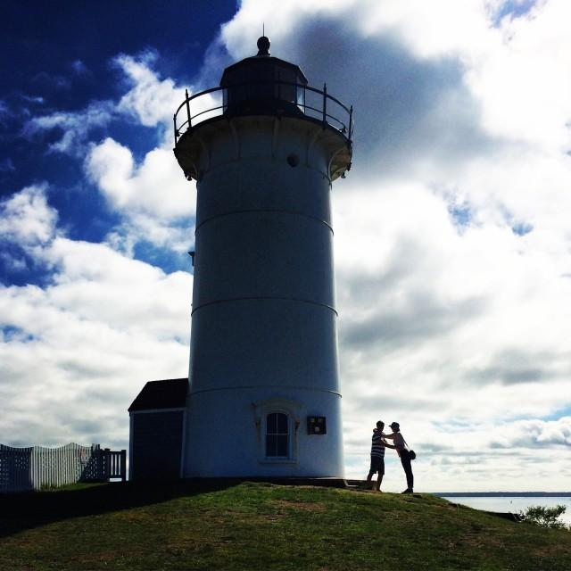 """Lighthouse romance"" stock image"