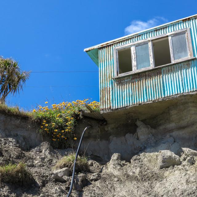 """""""Coastal erosion"""" stock image"""