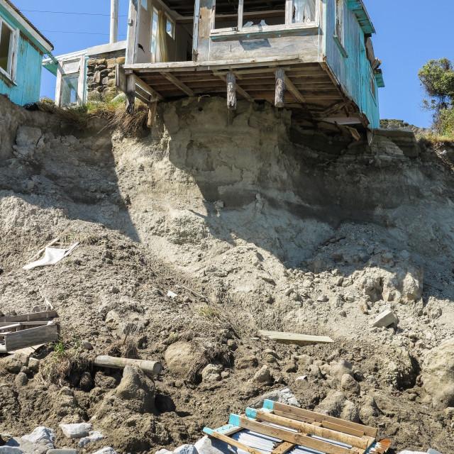 """""""coastal property damage"""" stock image"""