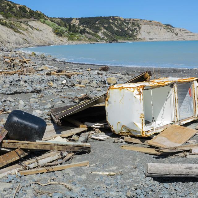"""""""coastal destruction"""" stock image"""