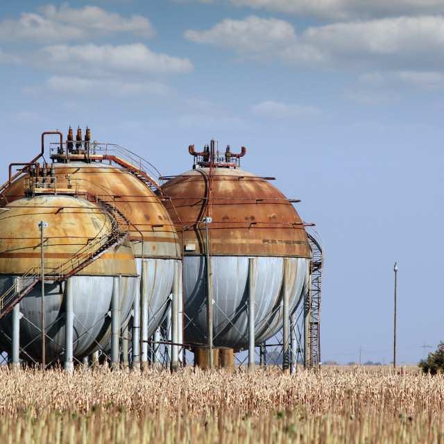 """""""industry zone with gas tank"""" stock image"""