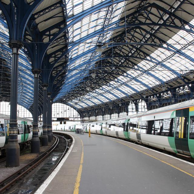 """Brighton Station"" stock image"