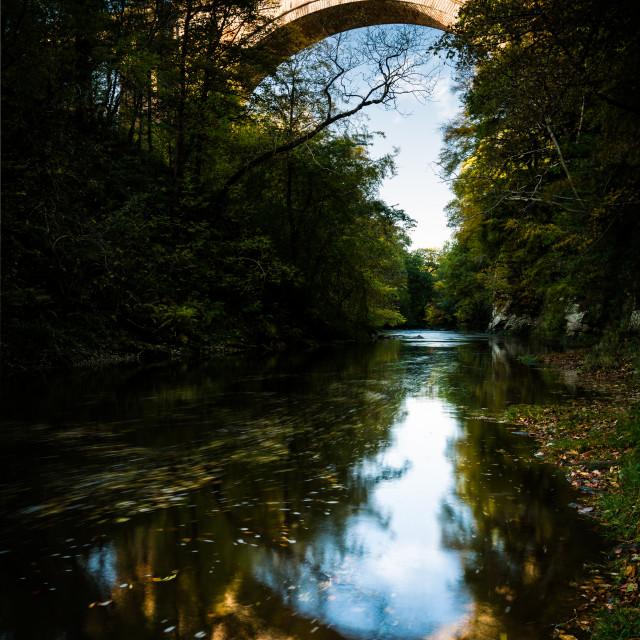 """Ballochmyle Railway Viaduct Vertical"" stock image"