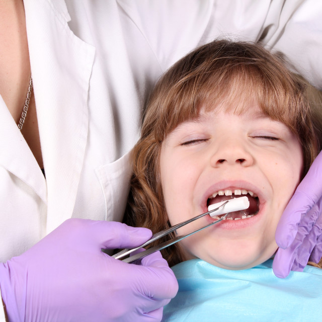 """healthcare child patient at the dentist"" stock image"