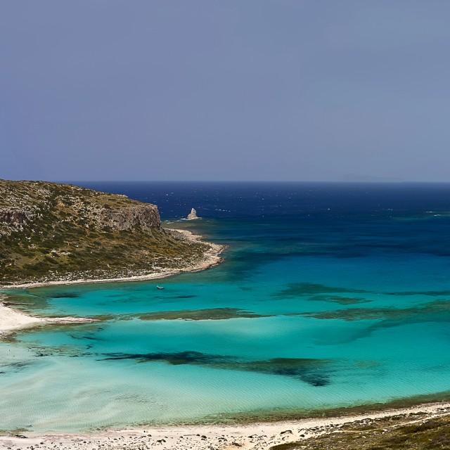 """Balos lagoon Crete Island big landscape"" stock image"