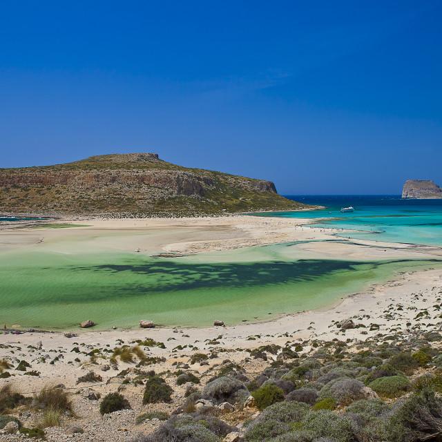 """Balos lagoon Crete Island landscape"" stock image"