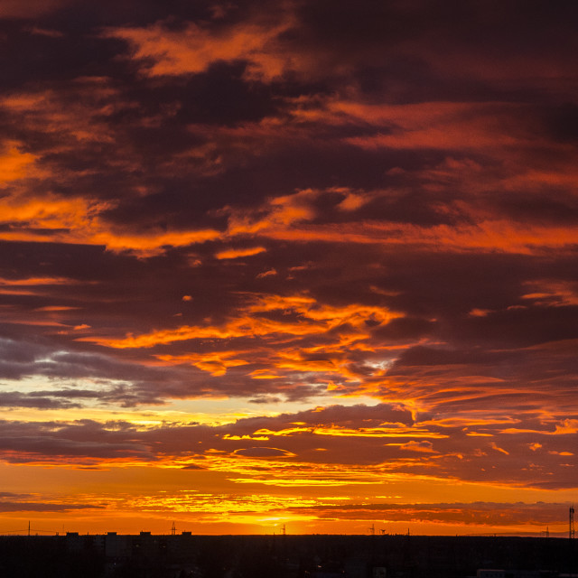 """""""The sky is on fire"""" stock image"""