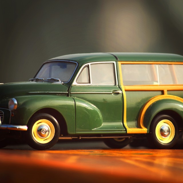 """Vintage Morris Minor"" stock image"
