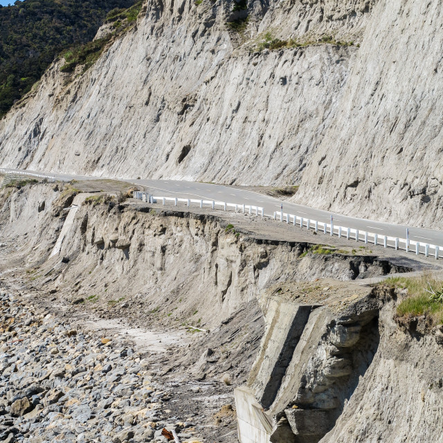 """""""Eroded highway"""" stock image"""