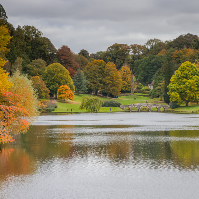 """""""View from the Gothic Cottage, Stourhead"""" stock image"""