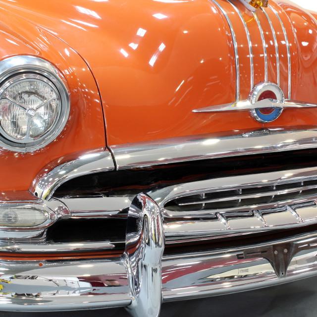 """oldtimer car chrome bumper detail"" stock image"
