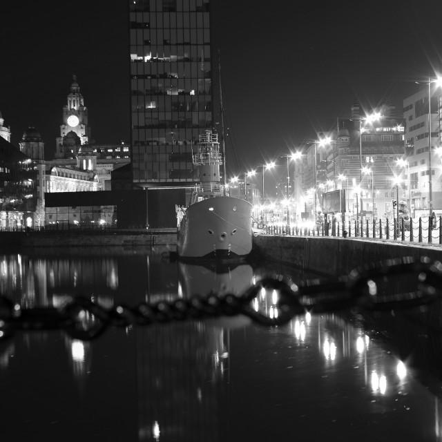 """Liverpool Albert Dock ship bar"" stock image"