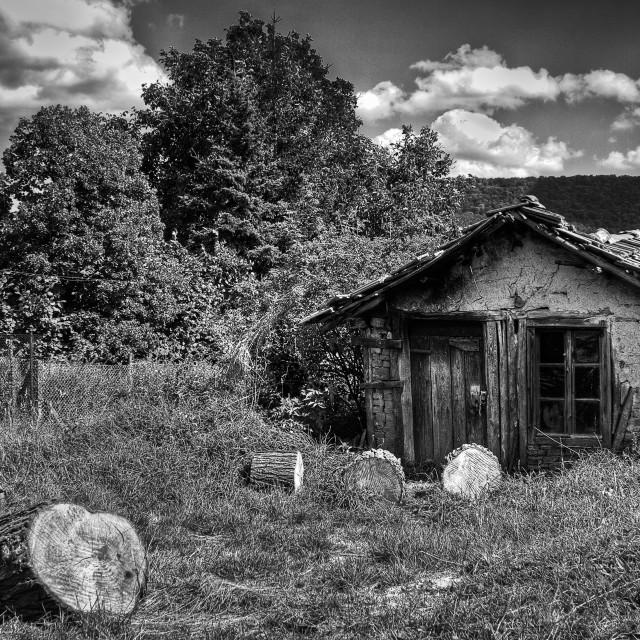 """Ruinous house"" stock image"