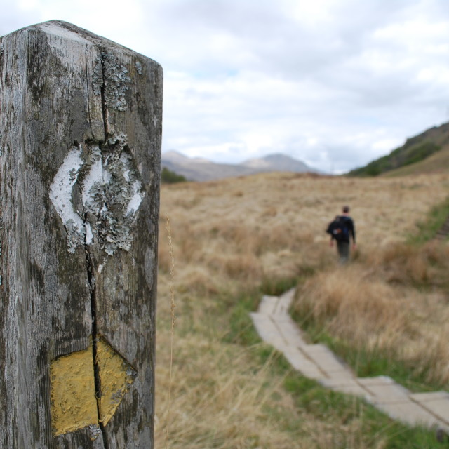 """West Highland Way"" stock image"