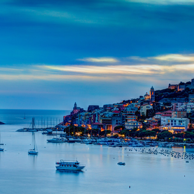"""""""Portovenere sunset"""" stock image"""