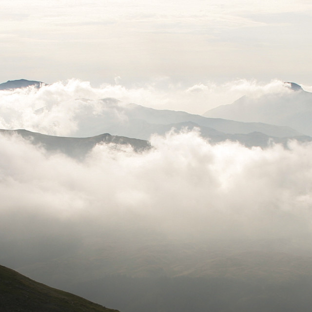 """Lake District from Helvellyn"" stock image"