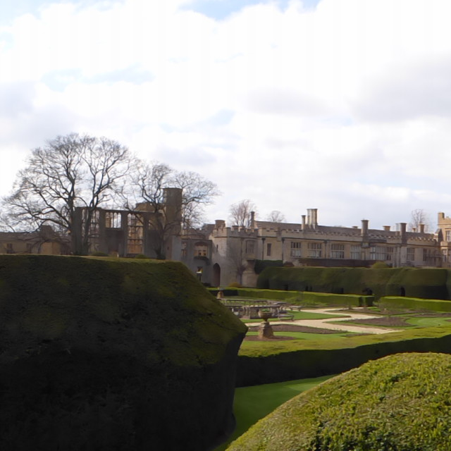 """Sudeley Castle, Panoramic Shot no 2"" stock image"