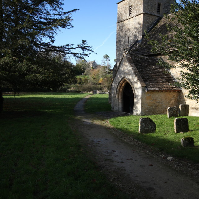 """Eastleach Church, Cotswolds"" stock image"
