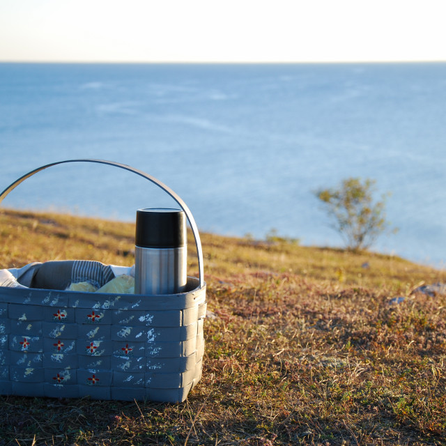 """""""Basket by the coast"""" stock image"""
