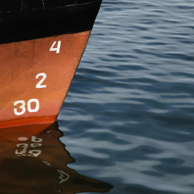 """Numbers at a ship"" stock image"