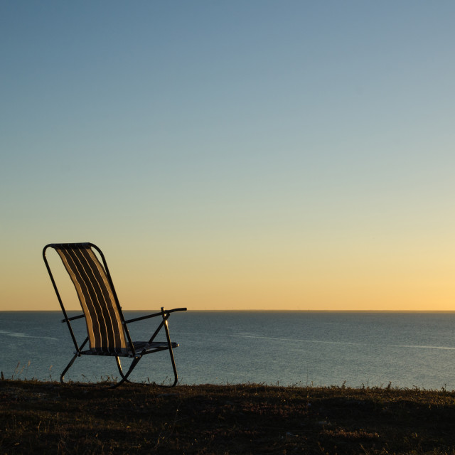 """""""Chair by the coast"""" stock image"""