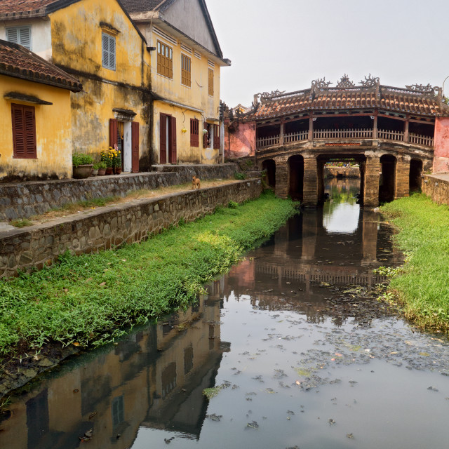 """Japanese Covered Bridge, Hoi An, Vietnam"" stock image"