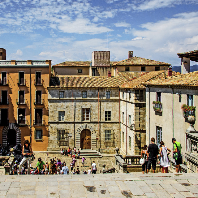 """Girona old town"" stock image"