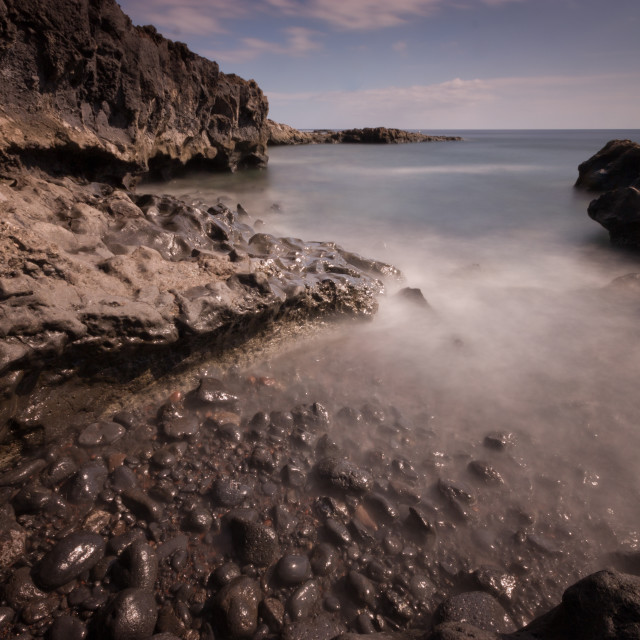 """Long exposure coast"" stock image"