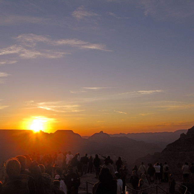 """Sunset tourists"" stock image"