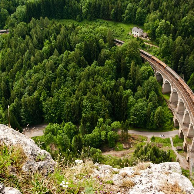 """Kalte Rinne viaduct"" stock image"