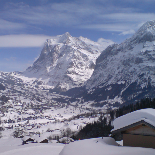 """View from Wengen"" stock image"