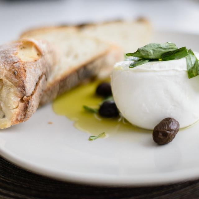 """""""Mozzarella and Bread"""" stock image"""