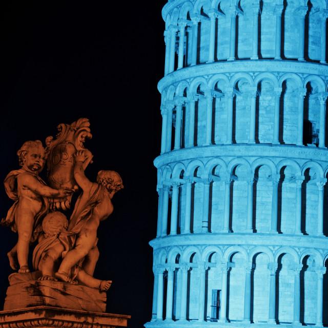 """piazza dei miracoli in blu"" stock image"