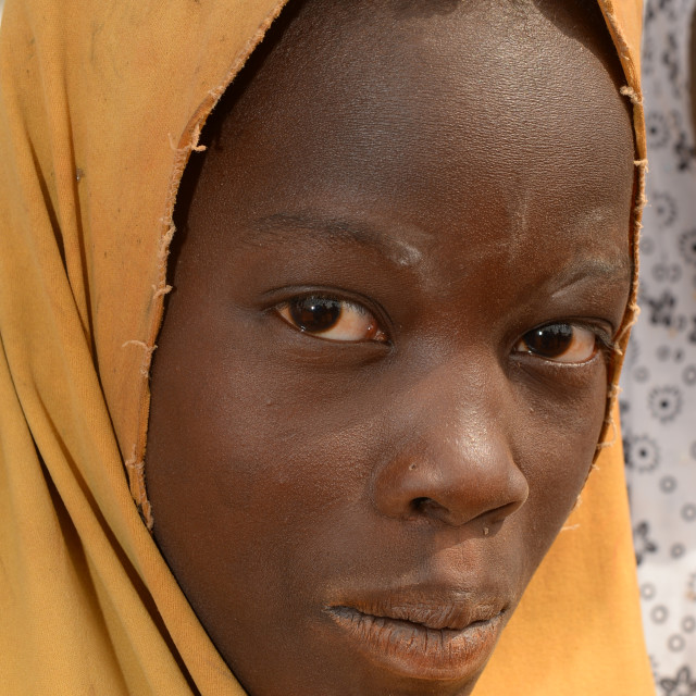 """""""young girl from Africa"""" stock image"""