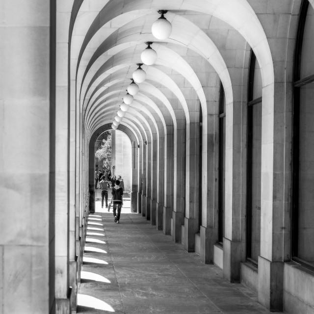 """Town Hall Walkway"" stock image"