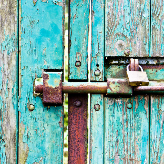 """""""Bolted gate"""" stock image"""
