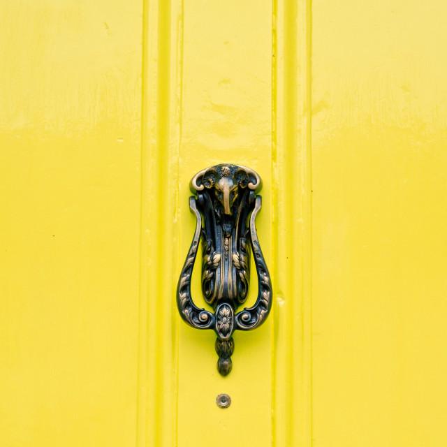 """""""Door knocker"""" stock image"""