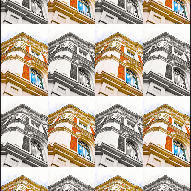 """""""Buildimng collage"""" stock image"""