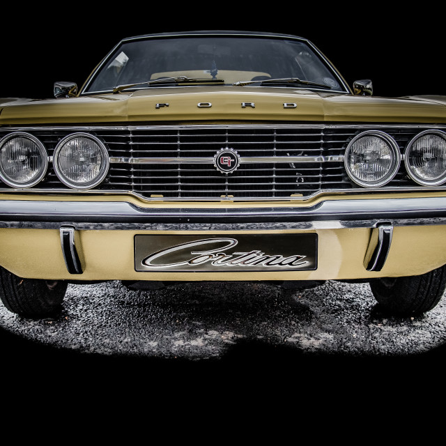 """""""A Classic Ford Cortina GT Mk 3"""" stock image"""