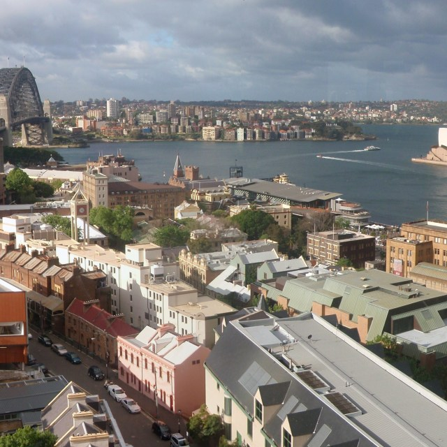"""Sydney Habour From High"" stock image"