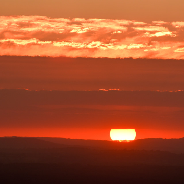 """""""Sussex Sunsets"""" stock image"""