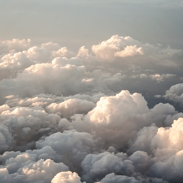 """Fluffy clouds"" stock image"